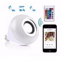 Lampada de LED RGB Bulb com Bluetooth/Aplicativo/Musica/Bivolt - Branco