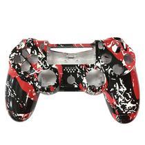 Carcaca de Controle Dualshock 4 para PS4 V1 Personalizado Vermelho e Preto