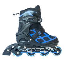 Rollers Perfect Sports SS-98A No 35-38 com Sistema Abec 7 - Preto/Azul