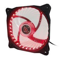 Cooler para Gabinete Mtek 12X12 - LED Vermelho