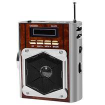 Radio Portatil Roadstar Classic RS-62RD FM com Lanterna/USB/Leitor de SD - Marrom