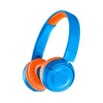 Fone de Ouvido Sem Fio JBL JR300BT com Bluetooth - Azul/Laranja
