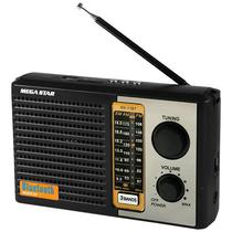 Radio Portatil FM/ AM/ SW Megastar RX-17BT com Bluetooth/ USB/ SD Bivolt - Preto