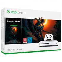 Console Xbox One s 1TB com Shadow Of The Tomb Raider - Branco