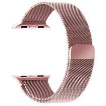 Pulseira 4LIFE de Aco Inoxidavel para Apple Watch Milanese - 42MM - Rose Gold