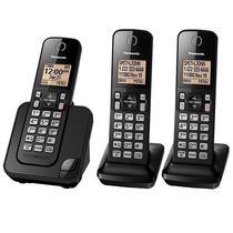 Telefone Sem Fio Panasonic KX-TGC353 com Identificador de Chamadas - Preto