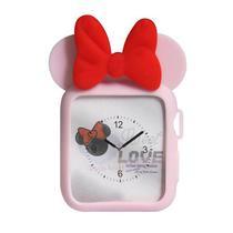 Capa 4LIFE de Tpu Minnie para Apple Watch 42MM - Rosa e Vermelho