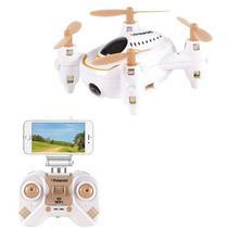 Drone Polaroid PL100 com Controle/Camera, 150MAH, 2.4GHZ, Wi-Fi, SD 480P - Branco e Dourado