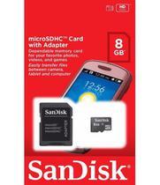 Cartão de Memória SD Micro 8GB Sandisk (2 In 1) C4