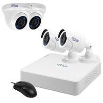 Kit de Vigilancia Vizzion VZ-KIT0404-1TB DVR + 4 Cameras 4 Canais 720P HD Tvi - Branco
