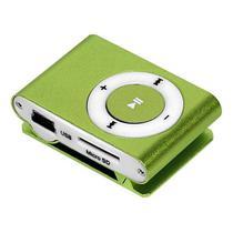 Reprodutor MP3 X-Tech XT-MP501 com Leitor de Cartao Micro SD - Verde