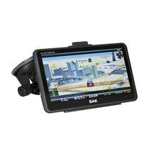 """GPS BAK BK-GPS7009DTBC de 7.0"""" com Mapa do Brasil/TV Digital/Os Windows Ce - Preto"""