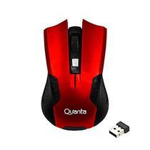 Mouse Optico Quanta QTMSW1001 Wireless 2.4GHZ 1200DPI - Vermelho/Preto.
