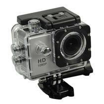 """Camera Esportiva Quanta QTSC501I Full HD de 12MP Tela 2"""" com Wi Fi - Prata"""