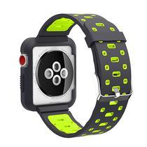 Pulseira 4LIFE de Silicone para Apple Watch 42MM - Preto e Verde