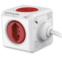 Adaptador Multiplo Elg Powercube Extended PWC-X5 5 Tomadas Tipo N Bivolt - Branco/Vermelho