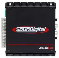 Amplificador Soundigital SD-400.4D - 2 Ohms - 4 Canais