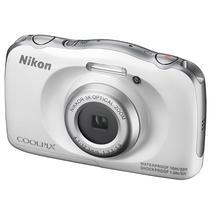 Câmera Digital Nikon s-33 Cmos 13.2MP Prova de Agua Zoom 6X - Branco