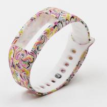 Pulseira 4LIFE de Silicone para Samsung Galaxy Gear Fit 2 - Grande - Design 3