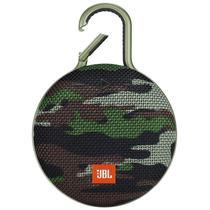 Caixa de Som JBL Clip 3 Bluetooth A Prova D'Agua Camuflado Squad