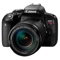 "Camera DSLR Canon Eos Rebel T7I 24.2MP 3"" Touch/Wi-Fi/Bluetooh/NFC - Preta"