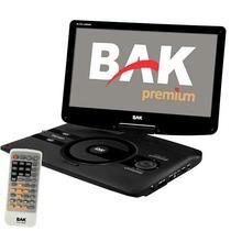 """DVD Portatil BAK BK-DVD-1259ISDBT de 12.5"""" com USB/SD/FM - Preto"""