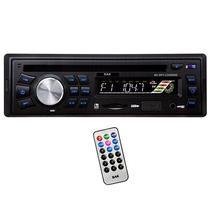 Reprodutor de CD Automotivo BAK BK-MP3-CD595SD com USB/Auxiliar/Slot SD/MMC - Preto