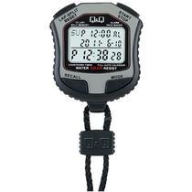 Cronometro Digital Q&Q HS45J002Y - Prata e Preto