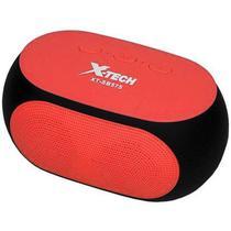 Caixa de Som Portatil X-Tech XT-SB575 com Bluetooth FM/Micro SD/Aux/Microfone - Vermelho