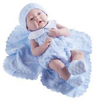 JC Toys Boneca 18054 38CM c/Cobertor Azul