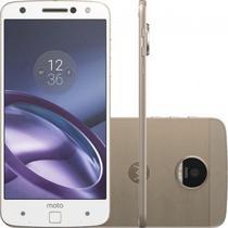 """Smartphone Motorola Moto Z XT1650 32GB Lte Dual Sim Tela 5.5""""QHD Cam.13MP+5MP-Branco"""
