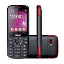 Celular Blu Jenny TV T276T DS 24/32MB 2.8 Camera 1.3MP - Preto/Vermelho