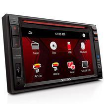 """Reprodutor de DVD Automotivo Philips Carstudio CED1500BT/98 6.2"""" com Bluetooth/USB - Preto"""