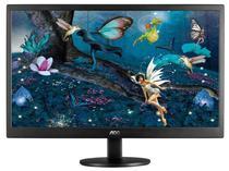 """Monitor AOC LED 16"""" E1670SWU USB Preto"""