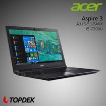 Notebook Acer A315-53-54XX i5-7200U 2.5GHZ/4GB/1TB+16GB