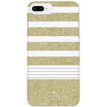 Capa de Silicone Kate Spade para iPhone 8/ 7/ 6S/ 6PLUS KSIPH-069-STPGG Glitterdourado/ Branco