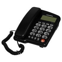 Telefone Fixo com Fio Roadstar RS-1130 com Identificador de Chamadas - Preto