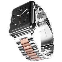 Pulseira 4LIFE de Aco Inoxidavel para Apple Watch - 42MM - Rose Gold / Silver
