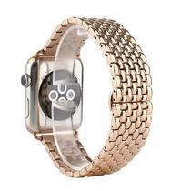 Pulseira 4LIFE de Aco Inoxidavel Dragon para Apple Watch 42MM - Rosa Ouro