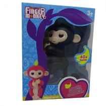 Boneco Baby Monkey Fingerlings Preto