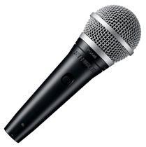 Microfone Vocal Shure PGA48-XLR com Fio Preto/Prata