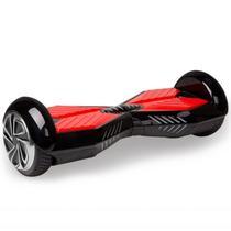 "Smart Balance Scooter Eletrico Pro Mountain 8"" com Bluetooth Bolsa e Controle Preto"