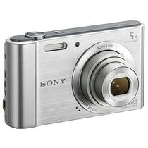 "Camera Sony DSC W-800 20.1MP Zoom 5X Visor 2..7"" - Prata"