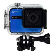 "Camera de Acao Ezviz S1C P206 Wi-Fi/Bluetooth 8MP Full HD com Tela 2.0"" - Azul"