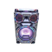 Caixa de Som Ecopower EP-1932 Bluetooth / USB / Cartao SD / FM / com Tripe - Preto