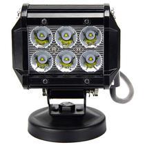 Barra LED Quanta QTFM18Q Quadrado 6 LED s - 18WATTS Preto
