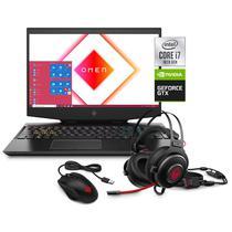 """Notebook Gamer HP Omen 15-DH1070WM 15.6"""" Intel Core i7-10750H - Preto"""