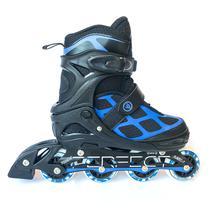 Patins-Rollers Perfect Sports SS-98A Tamanho L 39-42 Abec 7- Preto/Azul