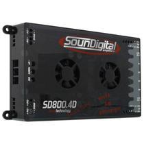 Amplificador Stereo Soundigital SD-800.4D Evo 4OHMS 800W