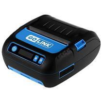Impressora Termica Go Link GL-28 com Bluetooth/Bateria Recarregavel - Preta/Azul
